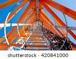 telecommunications tower ... | Shutterstock . vector #420841000
