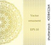vintage ornate card in oriental ... | Shutterstock .eps vector #420841264