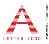 logo a letter. isolated on... | Shutterstock .eps vector #420842080