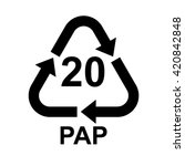 paper recycling symbol pap 20  .... | Shutterstock .eps vector #420842848
