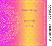 vector ornate background in... | Shutterstock .eps vector #420845200