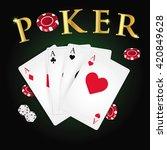poker cards and poker's symbol... | Shutterstock .eps vector #420849628