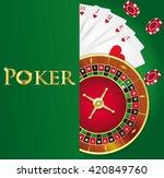 vector poker background with... | Shutterstock .eps vector #420849760