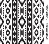 black and white navajo seamless ... | Shutterstock .eps vector #420850003