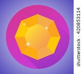 octagonal minimalistic shiny...