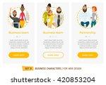 business characters set.... | Shutterstock .eps vector #420853204