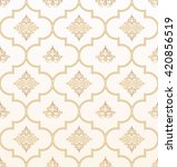vector seamless gold and white... | Shutterstock .eps vector #420856519