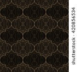 vector seamless gold and black... | Shutterstock .eps vector #420856534