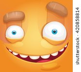 cartoon monster face   Shutterstock .eps vector #420858814