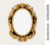 vector vintage border frame... | Shutterstock .eps vector #420863308