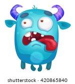 cartoon cute monster   Shutterstock .eps vector #420865840