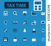 tax time icons | Shutterstock .eps vector #420873298