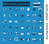 industrial business icons  | Shutterstock .eps vector #420873658