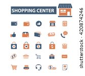 shopping center icons  | Shutterstock .eps vector #420874246