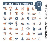 marketing strategy icons   Shutterstock .eps vector #420874456