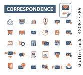 correspondence icons  | Shutterstock .eps vector #420877789