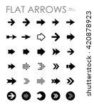 flat arrow icons set  modern... | Shutterstock .eps vector #420878923