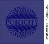 publicity badge with denim... | Shutterstock .eps vector #420880153