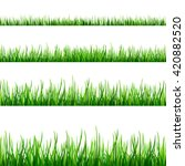 seamless green grass field.... | Shutterstock .eps vector #420882520