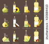 12 cooking oils in bottle....   Shutterstock .eps vector #420884410