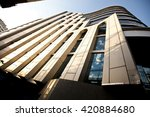 high rise building and sky with ... | Shutterstock . vector #420884680