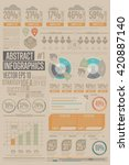 business infographics set with... | Shutterstock .eps vector #420887140