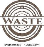 waste retro wood emblem | Shutterstock .eps vector #420888394