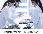 technology made by small parts... | Shutterstock . vector #420889369