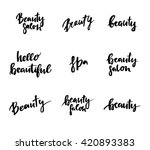 hand lettering vintage quotes   ...   Shutterstock .eps vector #420893383