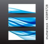 abstract blue wavy background... | Shutterstock .eps vector #420893728
