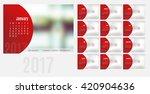 vector of calendar 2017 year ...   Shutterstock .eps vector #420904636