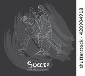 hand drawn illustration of... | Shutterstock .eps vector #420904918