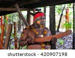 yirrganydji aboriginal warrior... | Shutterstock . vector #420907198