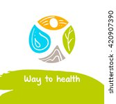 way to health. template logo.... | Shutterstock . vector #420907390