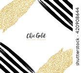 modern chic gold background... | Shutterstock .eps vector #420908644