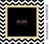 modern chic gold background... | Shutterstock .eps vector #420908938