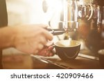 barista coffee maker machine... | Shutterstock . vector #420909466