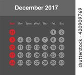 template of calendar for... | Shutterstock .eps vector #420909769