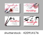 makeup artist business card.... | Shutterstock .eps vector #420914176