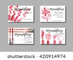makeup artist business card.... | Shutterstock .eps vector #420914974