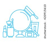 beauty and cosmetic line icon... | Shutterstock .eps vector #420915610
