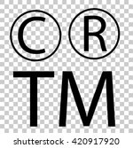 sign   c r and tm   | Shutterstock .eps vector #420917920