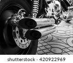 Motorcycle Exhaust Black And...