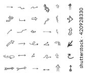 vector hand drawn arrows set... | Shutterstock .eps vector #420928330