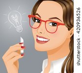new idea.portrait of young... | Shutterstock .eps vector #420936526