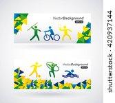 olimpics games design  | Shutterstock .eps vector #420937144