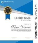 vector certificate template. | Shutterstock .eps vector #420942574
