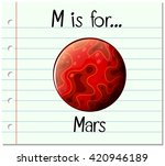 flashcard letter m is for mars... | Shutterstock .eps vector #420946189
