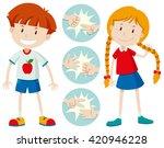kids playing rock scissors... | Shutterstock .eps vector #420946228