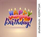 happy birthday background. cake ...   Shutterstock .eps vector #420947164